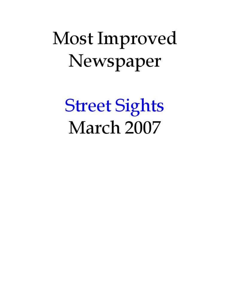 Most Improved Newspaper Street Sights Providence Ri