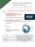 1.1 Teste Diagnóstico  - Ambiente natural e primeiros povos (4) - Soluções