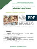 1.1.3 Os recursos naturais e a fixação humana