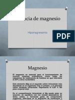 Carencia de Magnesio