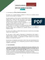 Octubre 2013 Reporte Mensual Actividad Legislativa