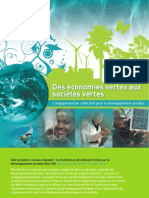 Des économies vertes aux sociétés vertes