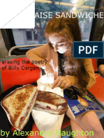 MAYONNAISE SANDWICHES (erasing the poetry of Billy Corgan) by Alexandra Naughton