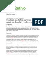 30-07-2013 Diario Rotativo - Celebran a Adultos Mayores Con Servicios de Salud y Cultura en Puebla