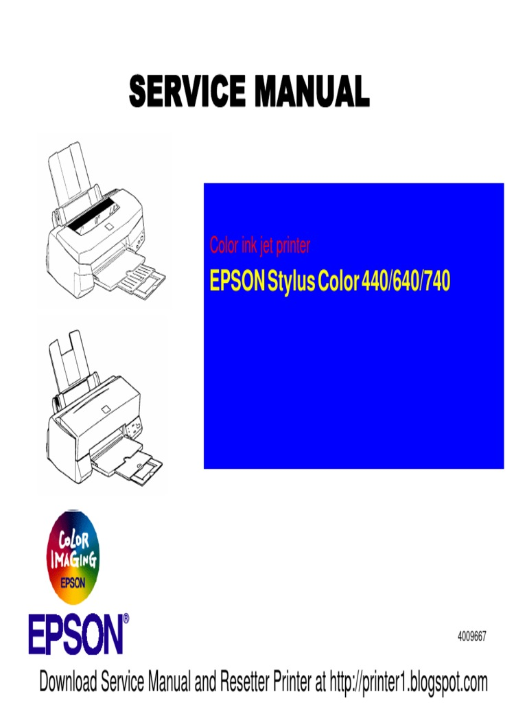 epson stylus color 440 640 740 color ink jet printer service repair manual