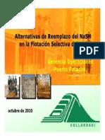 13 Alternativas de Reemplazo del NaSH en la Flotación Selectiva del Mo, Collahuasi