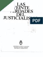 Las Veinte Verdades Del Justicialismo. Por Isabel Perón