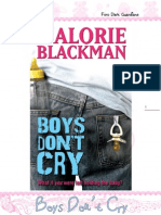 Boys Dont Cry - Malorie Blakman
