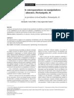 Prevalência de enteroparasitoses em manipuladores