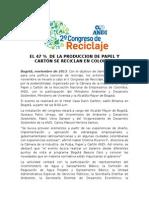 II Congreso de Reciclaje ANDI 2013.