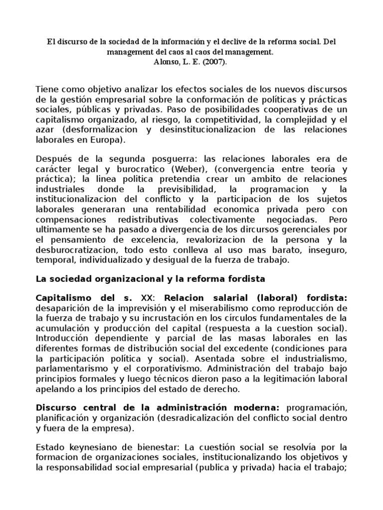 Alonso, L. E. (2007). El discurso de la sociedad de la