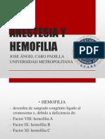 Anestesia y Hemofilia
