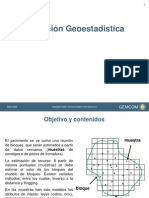 Estimación Geoestadistica Gemcom
