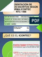 PARTES DE UN TRABAJO ESCRITO SEGÚN NORMA NTC 1486