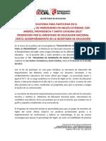 1. Convocatoria Inmersion en San Andres -Men 2013