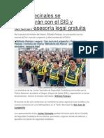 Juntas vecinales se beneficiarán con el SIS y tendrán asesoría legal gratuita