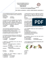 Examen Tecnica 70 Bio 1er Bim.