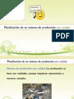 Planificación de un sistema de producción por unidad
