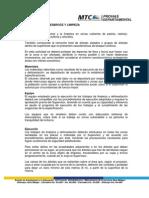 Especificaciones Tecnicas de DESBROCE Y LIMPIEZA