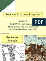 Rockmass Strength Properties