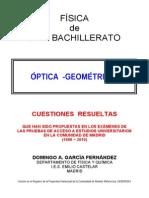 4.1 - ÓPTICA - CUESTIONES RESUELTAS DE ACCESO A LA UNIVERSIDAD