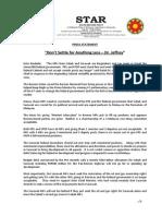 PressRelease-2013-Dont  Settle for Anything Less -05 November 2013.docx