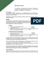 Especificaciones Tecnicas de GUARDAVÍAS (Incluye Terminal)