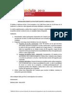 Modalidad Debate Listas Postulantes a Medula 2014