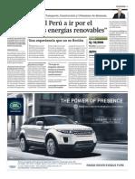 """""""Alentamos al Perú a ir por el camino de las energías renovables"""""""