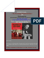 An Evening of Interaction With David Bacon Renowned Author