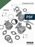 Kohler Carburetor Reference Manual TP-2377-E