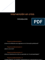 Intervención en crisis  introduccion