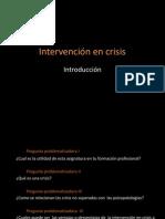 Intervención en crisis  introduccion