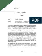 Fechas Examenes Finales 2013 II