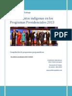 Chile. Asuntos Indígenas en Programas Presidenciales - 2013. Versión 5