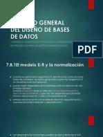7.8 PROCESO GENERAL DEL DISEÑO DE BASES DE DATOS