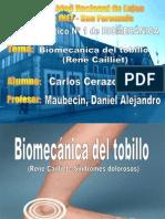 Biomecanica Del Tobillo