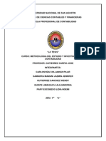 La Tesis de Metodologia de La Investigacion en Contabilidad