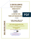 The TOEFL iBT Step By Step Reading Made Easy Seminar
