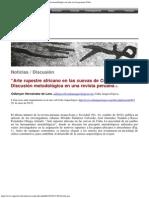 Arte rupestre africano en las cuevas de Cuba_ Discusión metodológica en una revista peruana Cuba