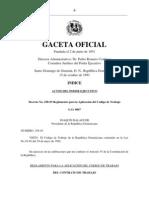 Decreto No. 258-93, Reglamento para la Aplicación del Código de Trabajo
