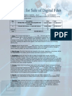 Contract for Sale of Digital Files