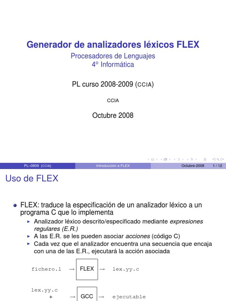 flex analizador lexico