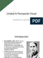 UNIDAD IV PERCEPCIÓN VISUAL (GESTALT)
