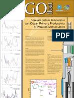 Korelasi antara temperatur dan ocean primary productivity di perairan selatan Jawa