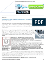 Pharmaceutical Technology_ The Advantages of Restricted-Access Barrier Systems.pdf