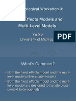 Fixed Effects and Multilevel Modeling