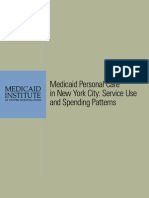 Medicaid Personal Care in New York City Service Use and Spending Patterns