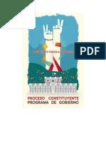 Programa de Gobierno Tod@s a la Moneda 2014