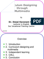 Curriculum Designing through Multimedia